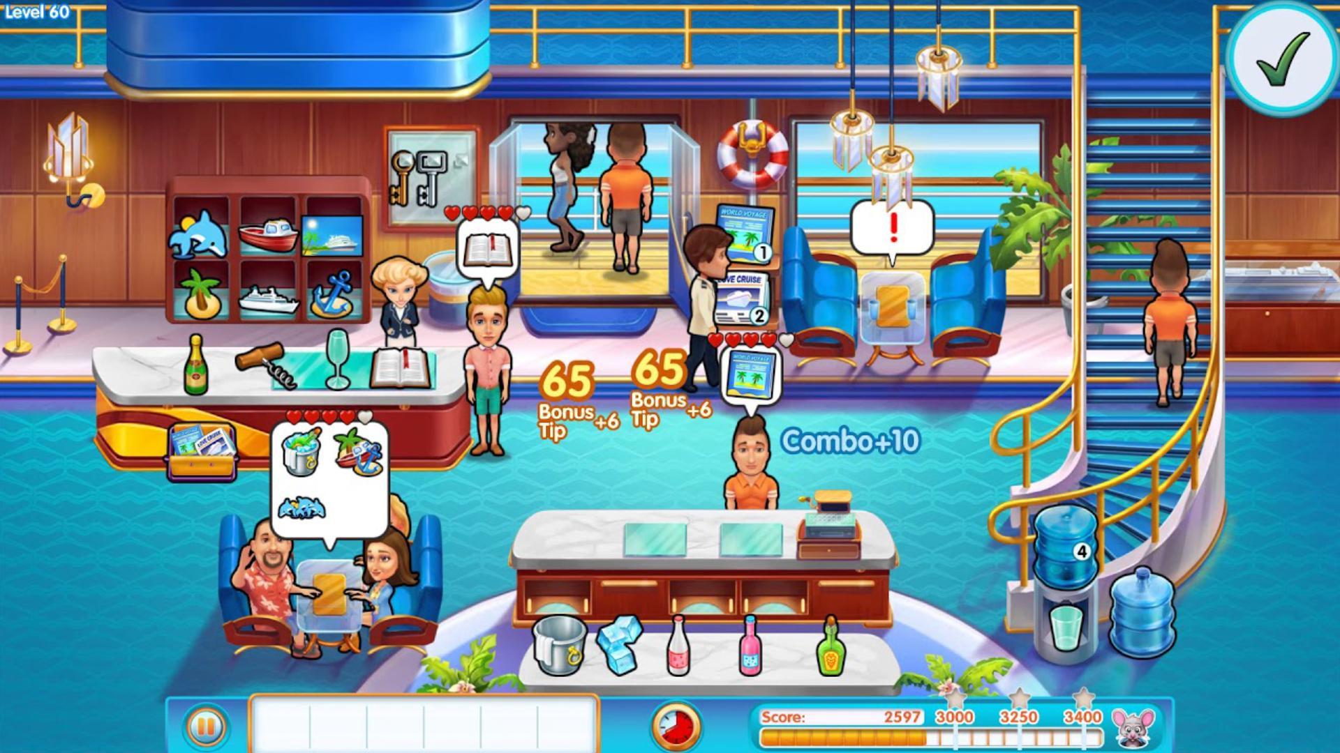 The Love Boat - Saga GameHouse, les jeux vidéo « Gestion du Temps »