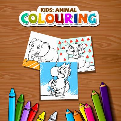Kids: Animal Colouring