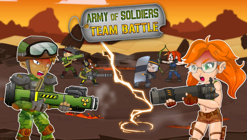 Army of Soldiers : Team Battle - Playtouch - Playtouch - Blacknut Cloud Gaming