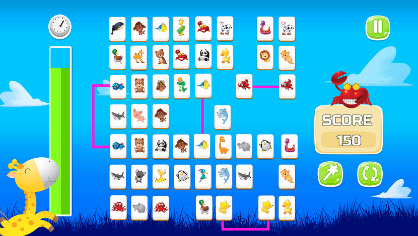Connect Animals : Onet Kyodai - Playtouch - Playtouch - Blacknut Cloud Gaming