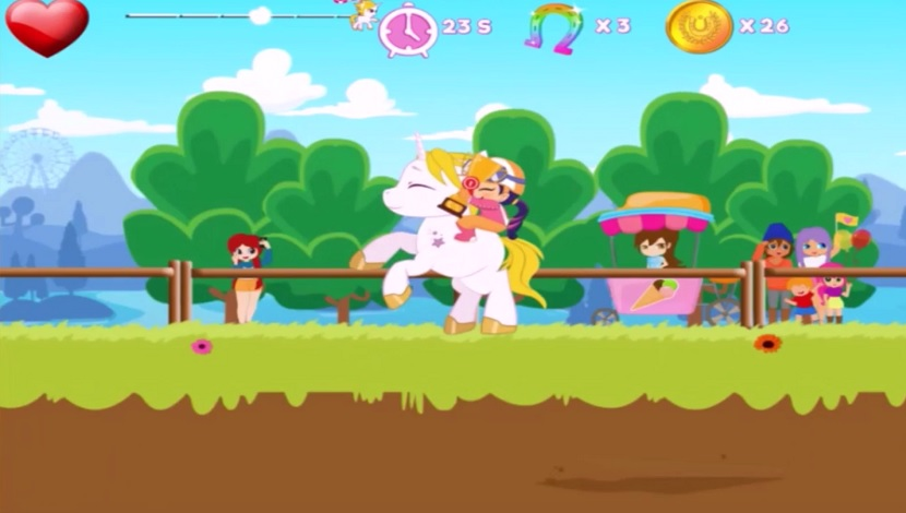 Pony Ride With Obstacles - Playtouch - Playtouch - Blacknut Cloud Gaming