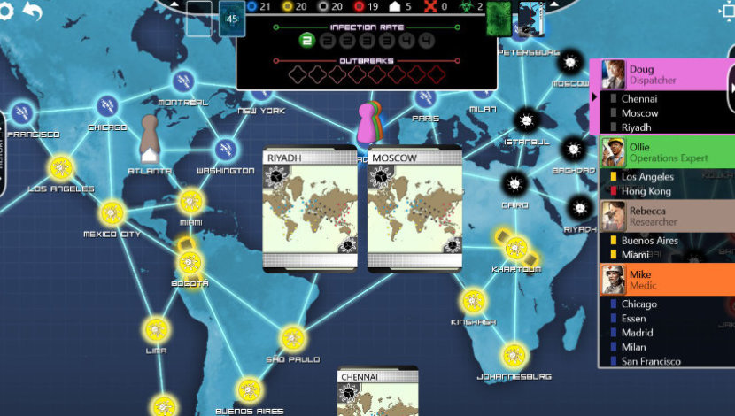 Pandemic : The Board Game - Asmodee Digital - Asmodee Digital - Blacknut Cloud Gaming