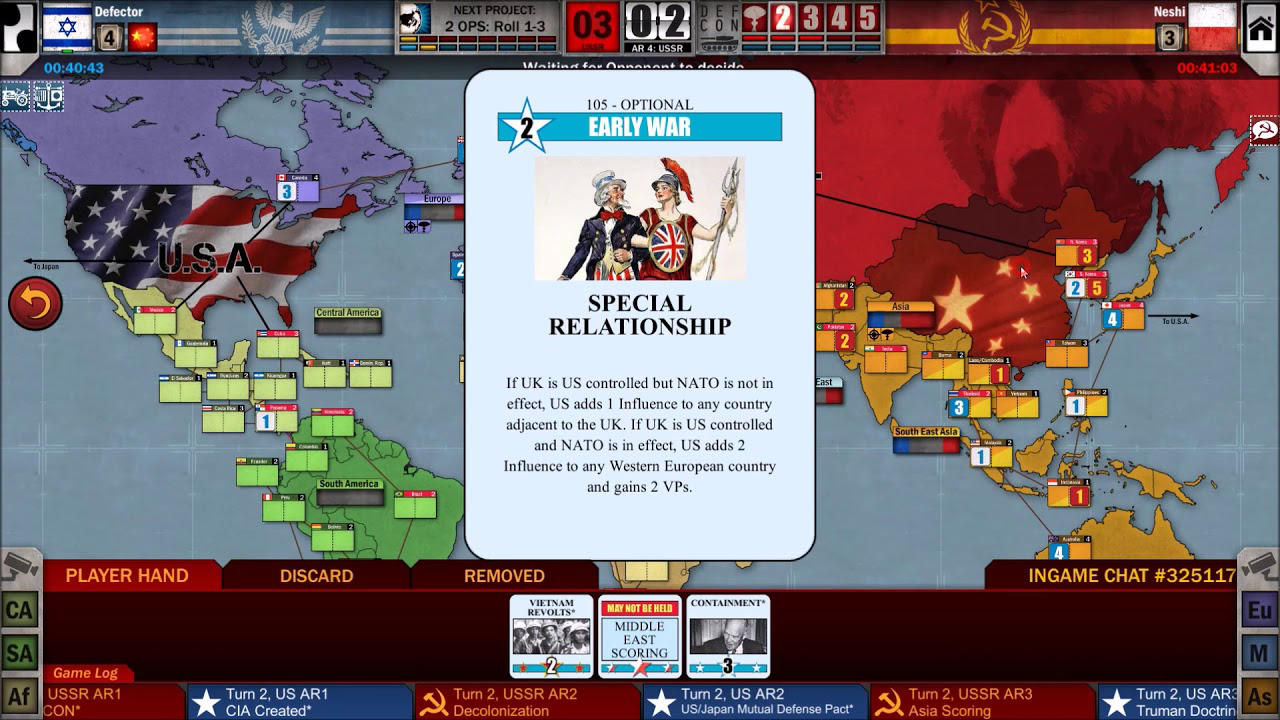 Twilight Struggle - Playdek, Inc. - Asmodee Digital - Blacknut Cloud Gaming