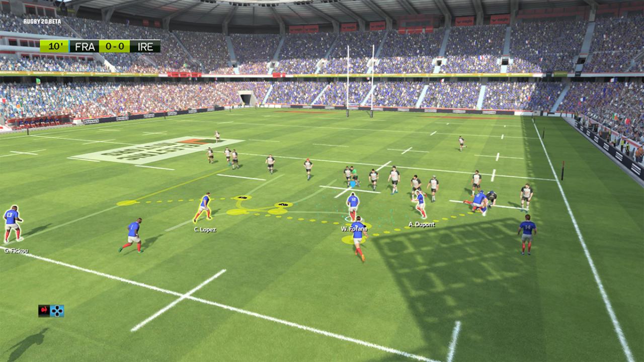 Rugby 20 - Eko Software - Nacon - Blacknut Cloud Gaming